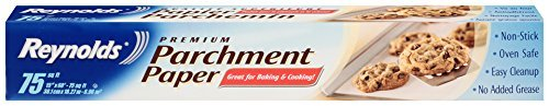 Reynolds Premium Parchment Paper (Non-Stick, 75 Square Foot Roll, 2 count)