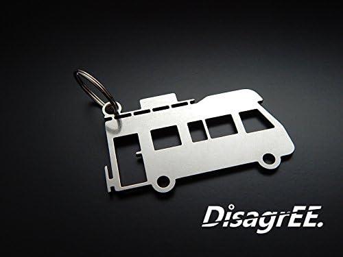 Disagree Schlüsselanhänger Wohnmobil Hochwertiger Edelstahl Glänzend Auto