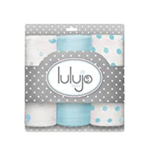 Lulujo Mini Muslin Cotton Cloths, Brilliant Blue, One Size