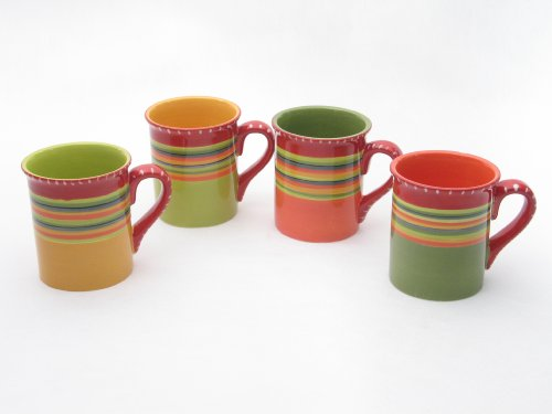 (Certified International Hot Tamale Mug, Set of 4 Assorted Designs )