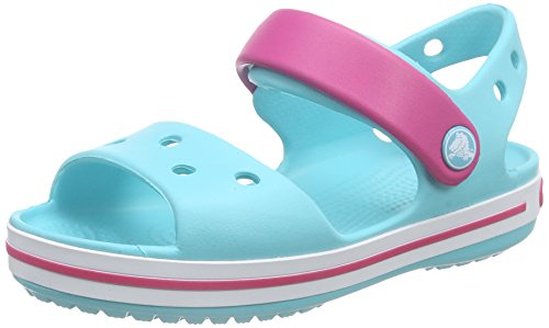 Crocs Baby Crocband Sandal Clog, Pool/Candy Pink, 7 M US Toddler