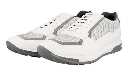 Prada Hombres 4e3020 Sneaker De Cuero
