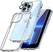 TOCOL 3 in 1 Designed for iPhone 13 Pro Max 5G Case 6.7 inch - With 2Pcs Tempered Glass Screen Protector + 2Pc