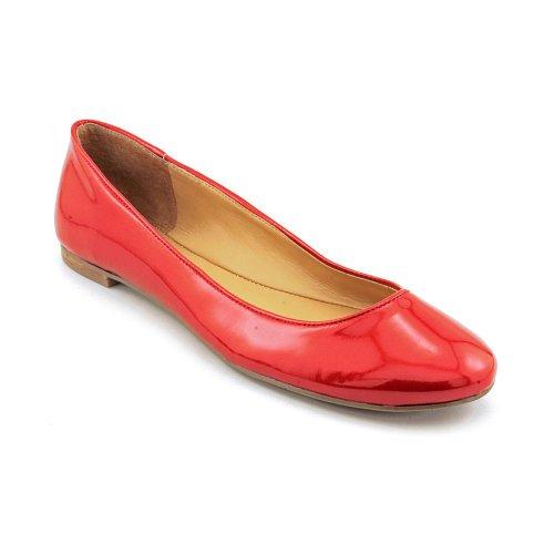 Nove Donne Dellovest Ourlove Balletto Piatto, Rosso, Misura 8.5