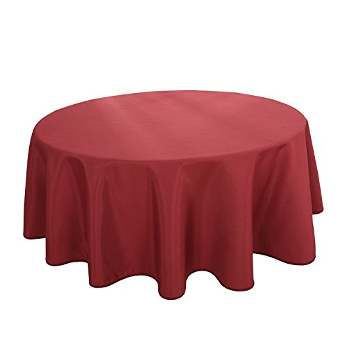 HIGHFLY Linen Round Tablecloth 60 Inch Waterproof Wine Tablecloth for Home Kitchen Dining Room (60' Round Dining Room)