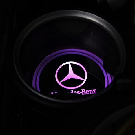 Bearfire Car Logo LED Cup Pad cup holder light USB Charging Mat Luminescent Cup Pad LED Mat Interior Atmosphere Lamp Decoration Light Chevrolet