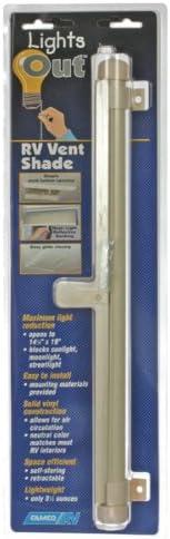 Camco 42913/Retrattile Lights out Vent Paralume Crema