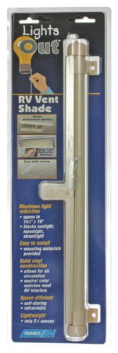 - Camco 42913 Retractable Lights Out Vent Shade (Cream)