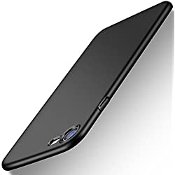 iPhone 7 Case, iPhone 8 Case, TORRAS Slim Fit Shell Hard Plastic Full Protective Anti-Scratch Resistant Cover Case for Apple iPhone 7 (2016)/iPhone 8 (2017) -Space Black