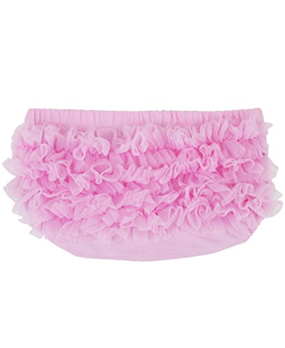 Ruffly Rumps Infant / Toddler Girls' Baby Bloomer w/ Chiffon Ruffles - Pink - - Ruffled Lace Bloomers