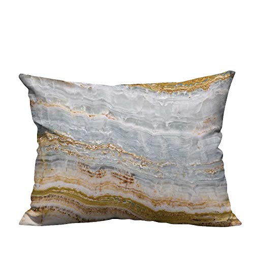 fengruihome Lovely Cushion Covers Onyx Texture Resists Wrinkles 12x16 inch(Double-Sided ()