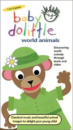 Amazon Com Baby Dolittle World Animals Vhs Baby Einstein