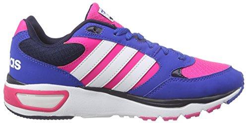 adidas Cloudfoam 8tis W, Zapatillas de Deporte para Mujer Rosa / Blanco / Azul (Rosimp / Ftwbla / Azul)