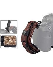 LYNCA E6 Camera Leather Wrist Hand Strap Adjustable Hand Grip Straps for DSLR Br
