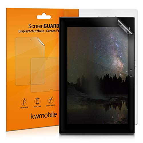 kwmobile 2X Screen Protector for Sony Xperia Tablet Z - Anti-Scratch, Anti-Fingerprint, Matte Display Film for Tablet - Set of 2 (Xperia Tablet 2)