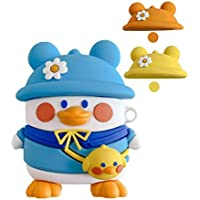 Apevo Cute Duck AirPods Case Cover with Keychain Three Color Changeable Hats Designed for AirPods/Pro Duck