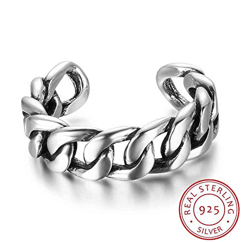 Women 925 Sterling Silver Rings Bead Twist Braid Open Rings for Girl Vintage Style Women Jewelry Gift