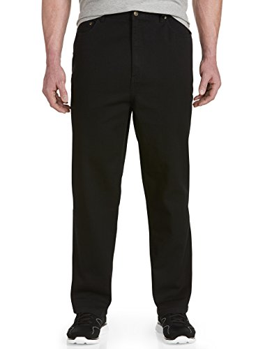 Harbor Bay Big And Tall (Harbor Bay by DXL Big and Tall Loose-Fit Denim 5 Pocket Jeans, Black 60 X 34)