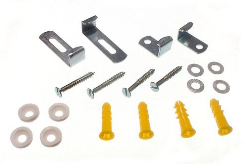 MIRROR CLIP SET ADJUSTABLE SET OF 4 WITH FIXINGS AND INSTRUCTIONS ( 2 set of 4 ) by ONESTOPDIY.COM