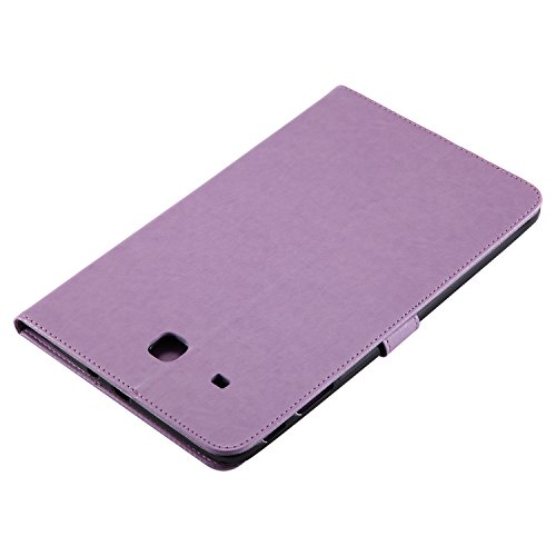 Samsung Galaxy Tab E 9.6 Case, BONROY® Samsung Galaxy Tab E SM-T560 9.6 Smart Case Cover Girl and Cat pattern series Ultra Slim Smart-shell Built-in Stand Auto Wake/Sleep For Samsung Galaxy Tab E SM-T Girl and cat - Light purple