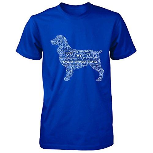 I Love My English Springer Spaniel Funny Gift For Pet Lovers - Unisex Tshirt