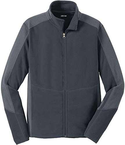 - Joe's USA Mens Microfleece Full-Zip Jacket-Grey/Grey-XL