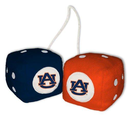 NCAA Auburn Tigers Football Team Fuzzy Dice, - Auburn Mall Outlet