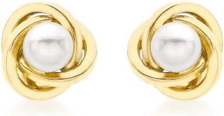 Carissima Gold Boucles d'Oreille Femme - Or Jaune 375/1000 (9 Cts) 0.63 Gr