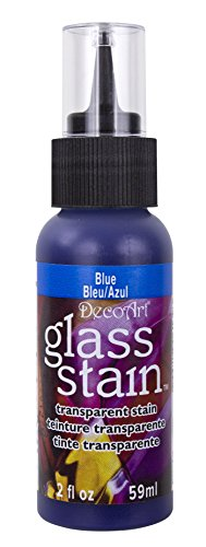 Glass Stain Paint (Transparent Glass Stain 2 Ounces-Blue)