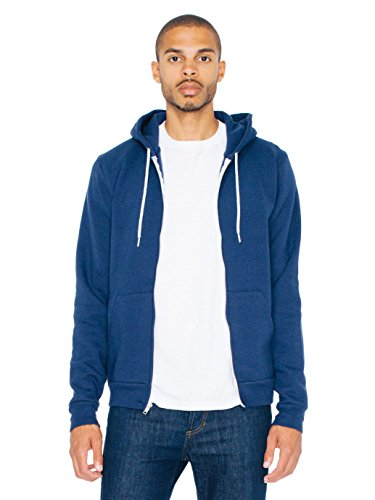 American Apparel  Unisex Flex Fleece Zip Hoodie, Navy, Medium ()
