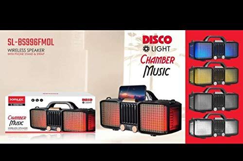 Sonilex SL   BS996FMDL Speaker with Disco Light Exra Bass TWS USB Multicolur