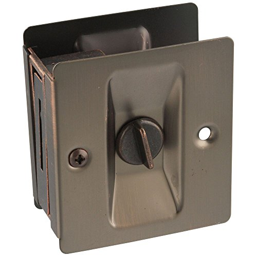 National Hardware N336-412 V1951 Pocket Door Latch in Antique Bronze (Mirror Door Antique)