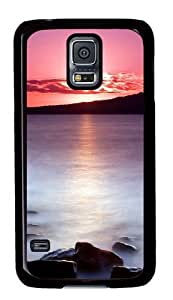 Cute Painting Samsung Galaxy S5 Case and Cover -Sunset Lake PC Hard Plastic Case for Samsung S5/Samsung Galaxy S5