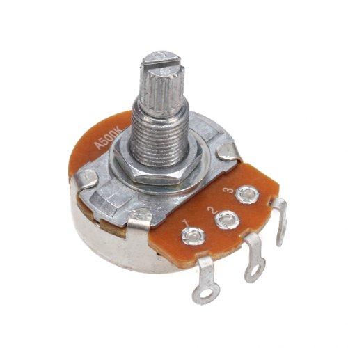 A500K OHM Audio Volume Guitar Potentiometer Split Shaft With Coarse Knurling NEW