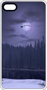 Santa Crossing The Full Moon Night Sky White Plastic Case for Apple iPhone 4 or iPhone 4s Kimberly Kurzendoerfer