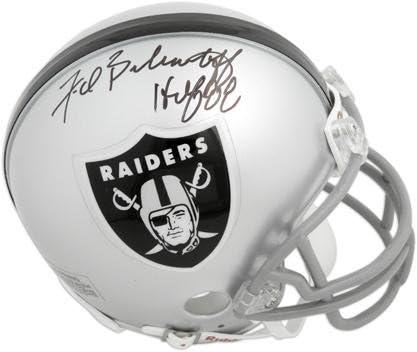Fred Biletnikoff Las Vegas Raiders Autographed Riddell Mini Helmet withHOF 88 Inscription Fanatics Authentic Certified