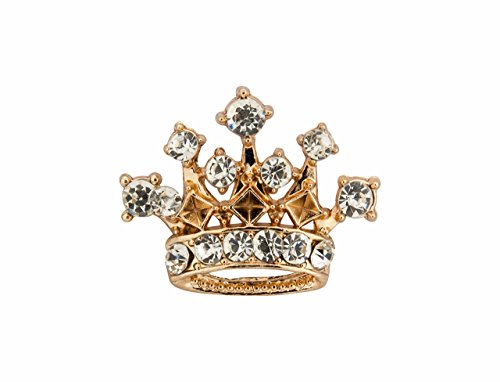 KNIGHTHOOD Men's Golden Crown With Swarovski Detailing Lapel Pin / Brooch (Swarovski Starter)