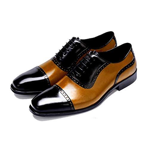 Lace Traspirante Rubber Scarpe Confortevole Wearable in Uomo Pelle 37 Brown da Business Black Sxzw0xX6