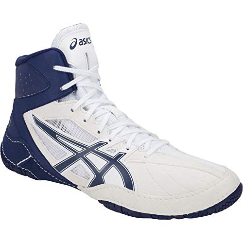 ASICS Mens Cael V8.0 Wrestling Shoes (6.5 M US, White/Indigo Blue)