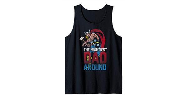 Marvel Thor Mightiest Dad Around Camiseta sin Mangas: Amazon ...
