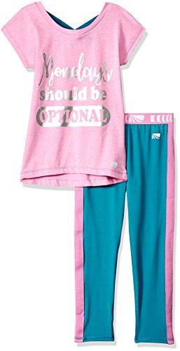 - Marika Girls' Little 2 Piece Knit Top and Legging Set, Fuchsia Mondays, 5/6