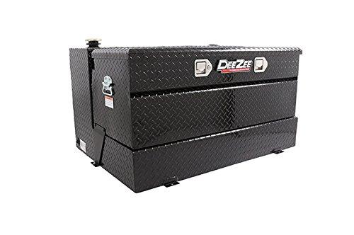 Dee Zee DZ91741XB (80 gallon) Auxiliary Diesel Combo Transfer Tank & Tool Box - Black Aluminum