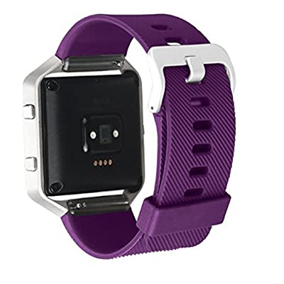 Fitbit Blaze Accessories Bands, AK Adjustable Durable Replacement Wristbands Strap for Fitbit Blaze Smart Fitness Watch [with Metal Clasp]