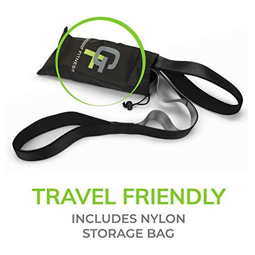 Gradient Fitness Stretching Strap, Premium Quality Multi-Loop Strap, Neoprene Padded Handles, 12 Loops, 1.5″ W x 8′ L