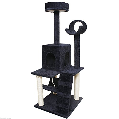 My1stPet Cat Tree Condo with Scratching Post, 52