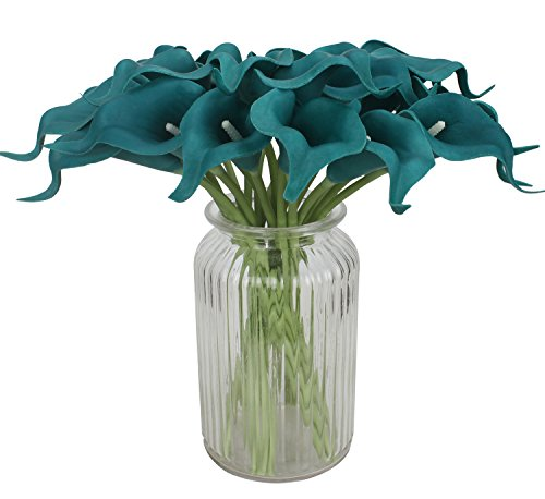 Duovlo-20pcs-Calla-Lily-Bridal-Wedding-Bouquet-Lataex-Real-Touch-Artificial-Flower-Home-Party-Decor-Peacock-Blue