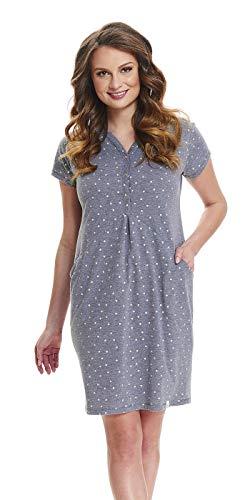 offiziell online hier akzeptabler Preis dn-nightwear Damen Umstandsnachthemd/Stillnachthemd TCB.9452 ...