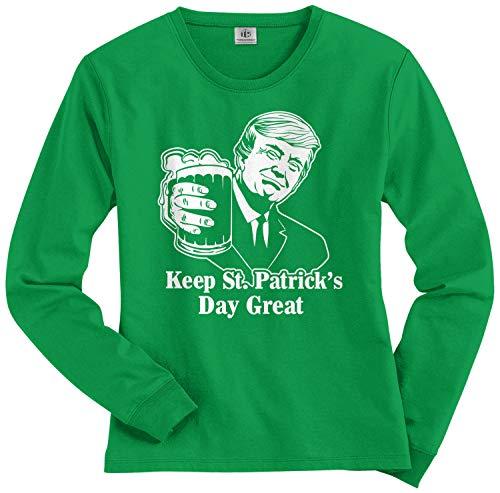 Threadrock Keep St. Patrick's Day Great | Trump 2020 Women's Long Sleeve T-Shirt