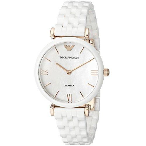 (Emporio Armani Women's AR1486 Dress White Ceramic Watch)