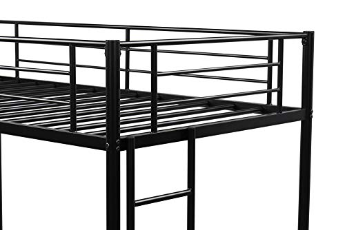 Bedroom V-HOME Twin Over Twin Bunk Bed,Stainless Metal Bed Frame with Two-Side Ladders and Safety Guard Rails,Space Saving… bunk beds
